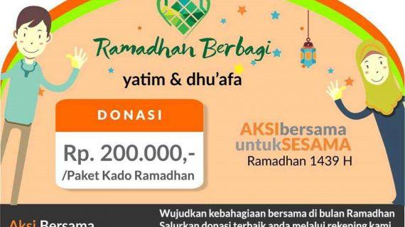 1000 Paket Kado Ramadhan buat Yatim Dhuafa dan Fi Sabilillah