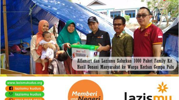 Alfamart dan Lazismu Salurkan 1000 Paket Family Kit Hasil Donasi Masyarakat ke Warga Korban Gempa Palu dan Sekitarnya