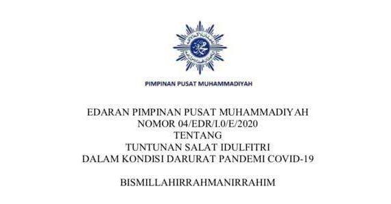 EDARAN PIMPINAN PUSAT MUHAMMADIYAH NOMOR 04/EDR/I.0/E/2020