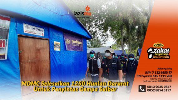 Relawan Muhammadiyah Selesaikan 1250 Hunian Darurat Untuk Penyintas Gempa Sulbar