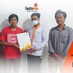 Lazismu Bersama IPM Ahmad Dahlan Serahkan Bantuan Korban Kecelakaan