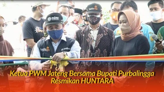 Bersama Bupati Purbalingga Ketua PWM Jateng Resmikan Huntara