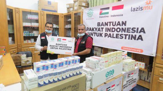 BANTUAN RAKYAT INDONESIA SAMPAI DI PALESTINA